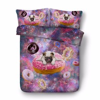 3D printed animal dog comforter bedding sets single twin double full queen king cal king pink galaxy duvet cover sets 3/4pcs