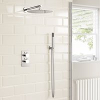Modern Mixer Shower Set Thermostatic Valve With 300mm Rainfall Shower Head Hand Held Shower 16 149