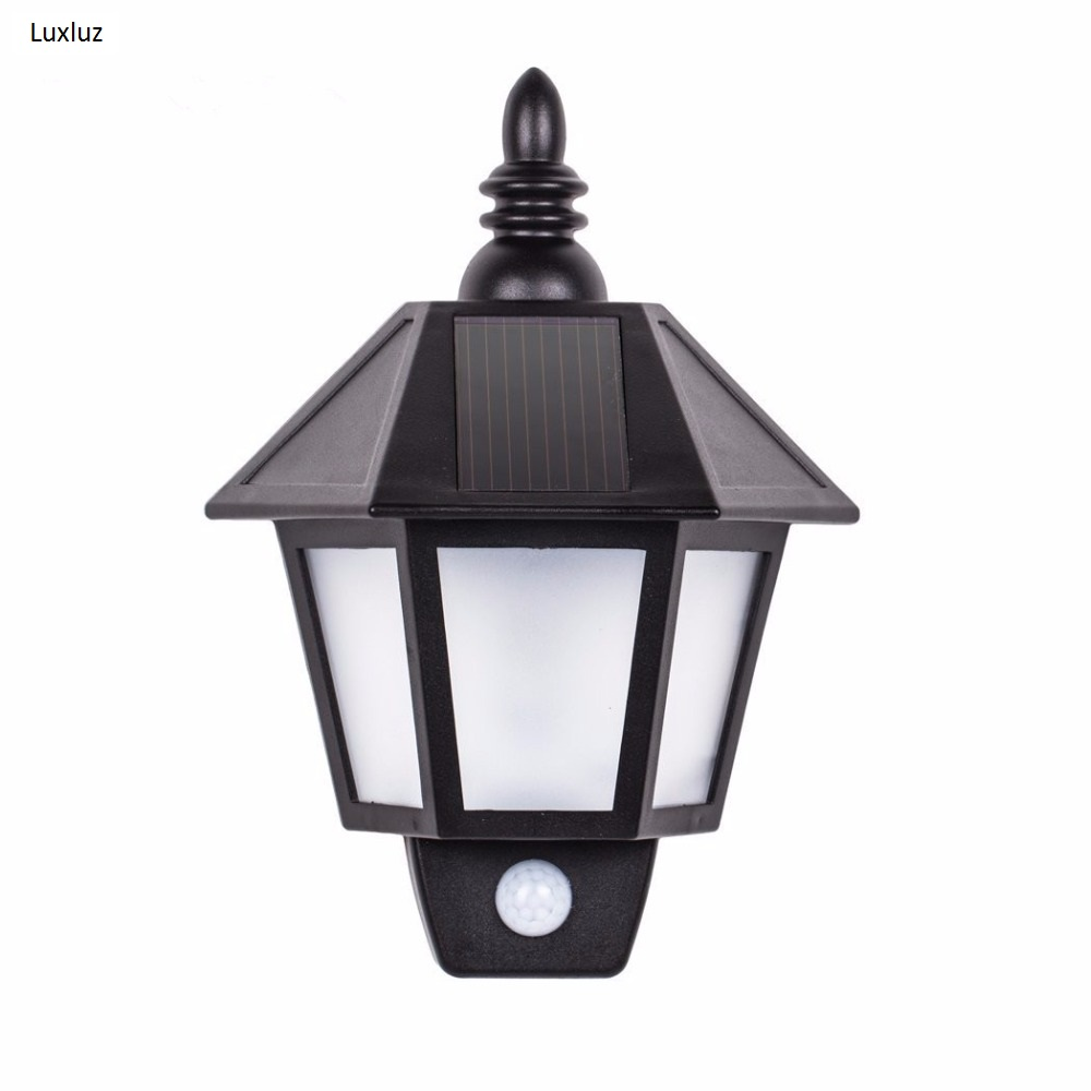 Vintage Semi Hexagon LED Solar lamp Infrared Motion Sensor Outdoor Porch Lights Wall Mount Path Linterna Led Street Lanterna чайный напиток имбирь и тулси