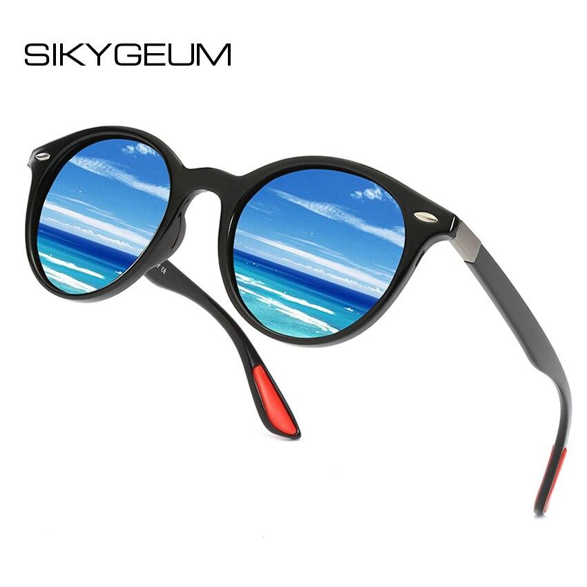 9836f4e674 Comprar Gafas de sol polarizadas redondas Retro SIKYGEUM para hombre, gafas  de sol de marca para mujer, de moda, gafas de sol de estilo joven, gafas de  sol ...