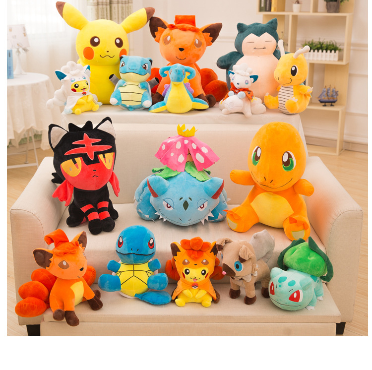 Pocket Monster Anime Pikachu Stuff Animal Plush Toys Peluche Pikachu Doll