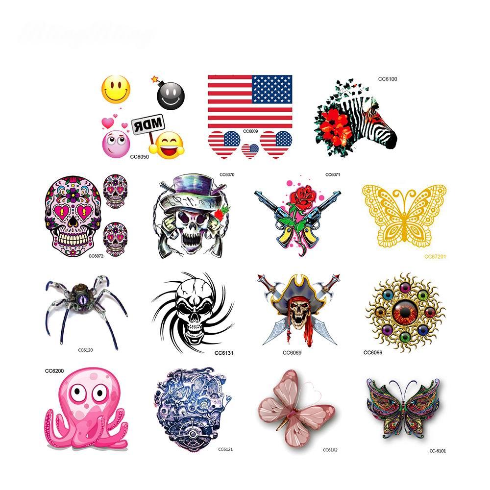 Tattoo Designs For Kids: 15 Sheet Mini Size Kids Temporary Tattoos Sticker 3D