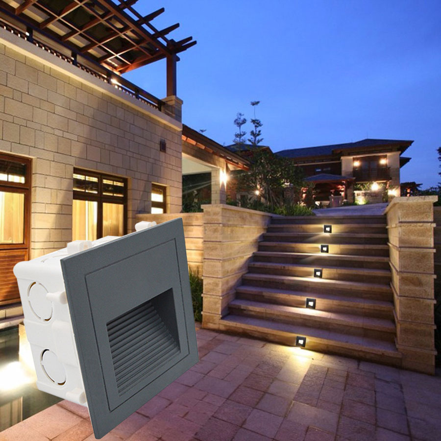 Lighting Basement Washroom Stairs: 5pcs 3w Outdoor Led Stair Lights PIR Motion Sensor