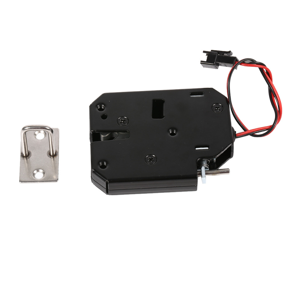 1pcs Electromagnetic Electric Control Cabinet Drawer Lockers For 12v Dc Lock Latch Carbon Steel Black Door Access Control