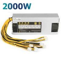2000 Вт 2000 Вт компьютер Питание ЕС Plug Gold Мощность ATX 12 В 220a Процессор Active PFC эффективное Эфириума BTC добыча Питание