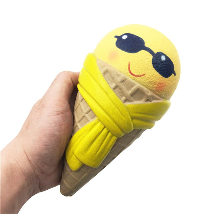 Emoji Ice Cream Squishy Scented Squishy Slow Rising Squeeze Toy Jumbo Collection Squishy Stress Relief Toy Funny Kids Gift 20