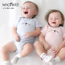 2016 baby girl boys clothes cute cat kids rompers short sleeve cotton kids romper newborn infant