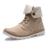 Los hombres Del Ejército Botas Primavera Otoño con cordones de Alto Estilo Paladines de la Lona Tendencia de La Moda Juvenil Plana Con el Hombre De Goma de Arranque zapato