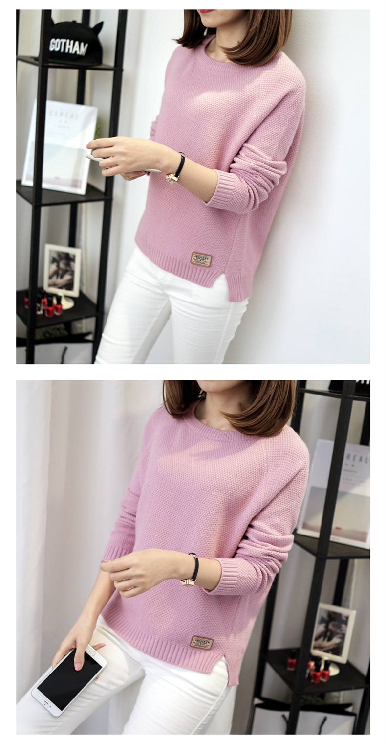 Autumn sweater 19 Winter women fashion sexy o-neck Casual women sweaters and pullover warm Long sleeve Knitted Sweater 8
