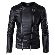 Winter mens style Casual leather jackets 2017 new Men personality Fashion solid color Urban leisure zipper Clothes Jacket S-3XL