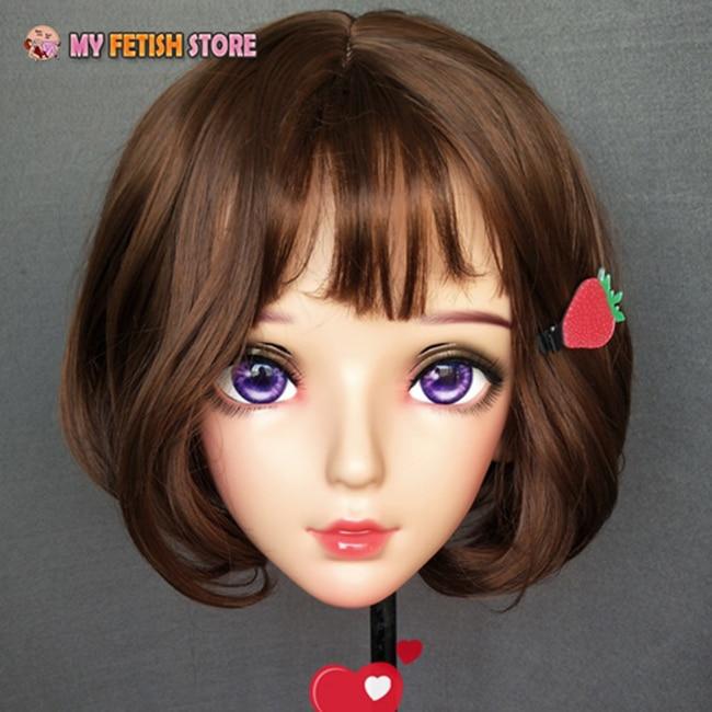 (Nan-02) feminino doce menina resina meia cabeça