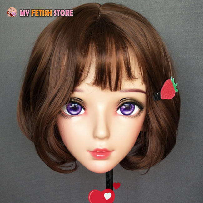 (Nan-03) feminino doce menina resina meia cabeça
