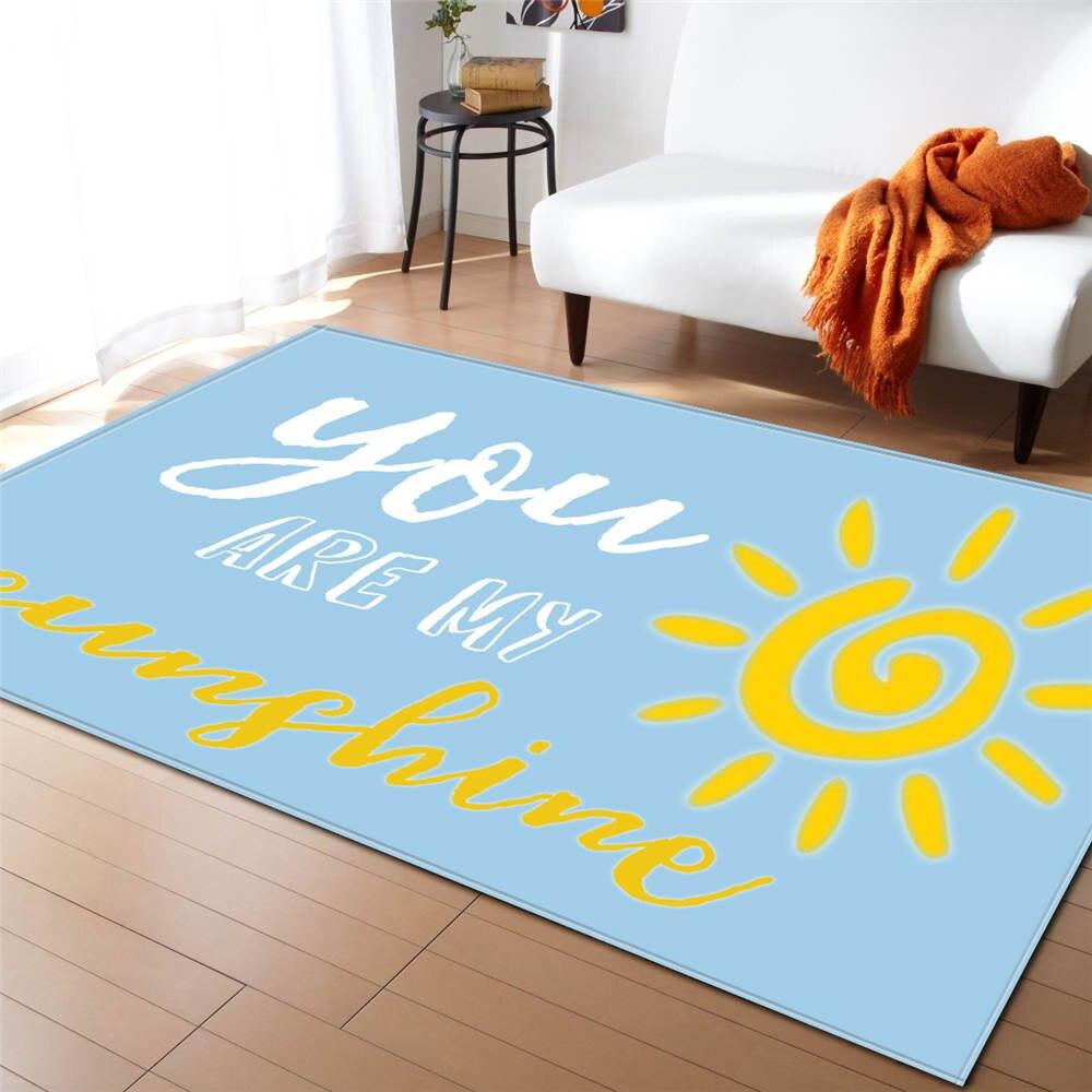 Ins Style Lettres Décoration Coloré Tapis Salon Tapis Souple Flanelle Enfants Chambre Jouer tapis Grand Tapis
