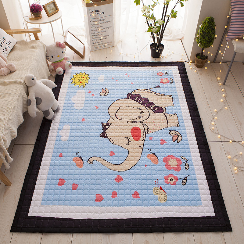 купить Infant Shining Cartoon Baby Play Mats Kids Crawling Rugs Safe And Soft Cotton For Children Carpet Anti-skid Living Room Blanket онлайн