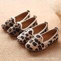 Детская Повседневная Обувь Обувь для Девочек Мода Leopard нескользящие Дышащие Doug Обувь