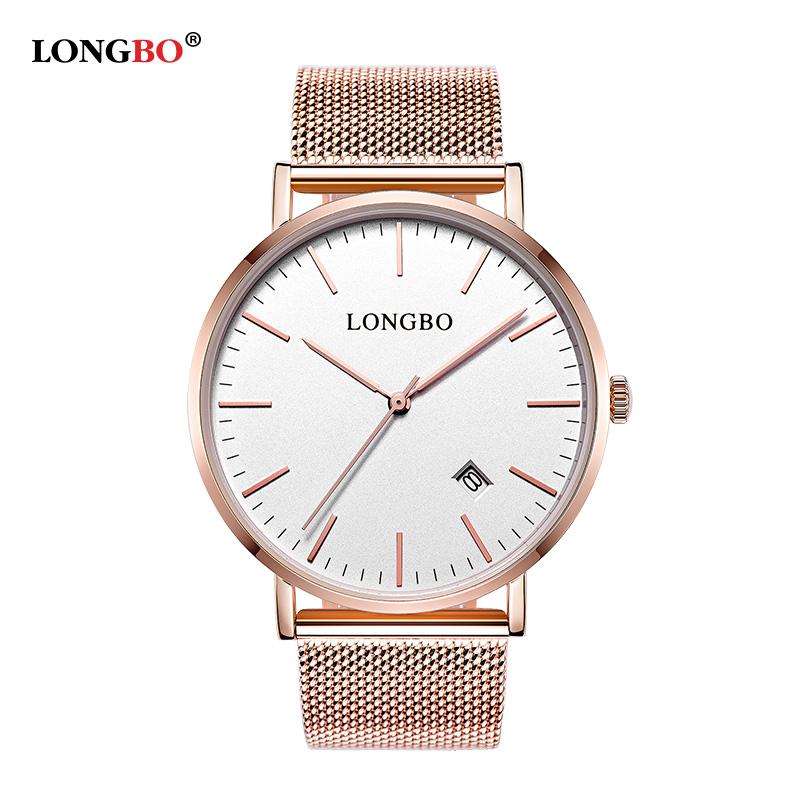 Prix pour LONGBO Marque simple montre hommes de luxe ultra-mince relogio or montres à quartz affaires montre-bracelet robe horloge relojes hombre 5009