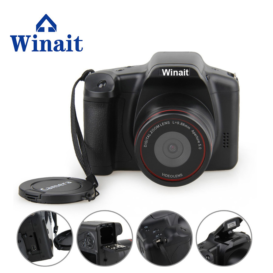 Winait Cheap Dslr Similar Camera 12MP 4X Digital Zoom HD 1280x720 Digital Camera 0.3 megapixels CMOS Mini Camera