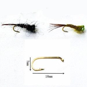 Image 5 - KKWEZVA 50 יחידות שילוב נימפה טוס דיג זבובים טוס חרקים שונה סגנון סלמון פורל לטוס דיג פתיונות קרס דיג