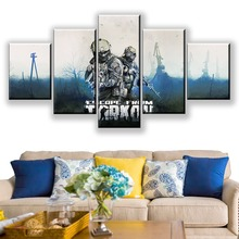 5 Piece Canvas Paintings Escape From Tarkov Video Game Poster Framework Decorative Solider Picture Wall Art