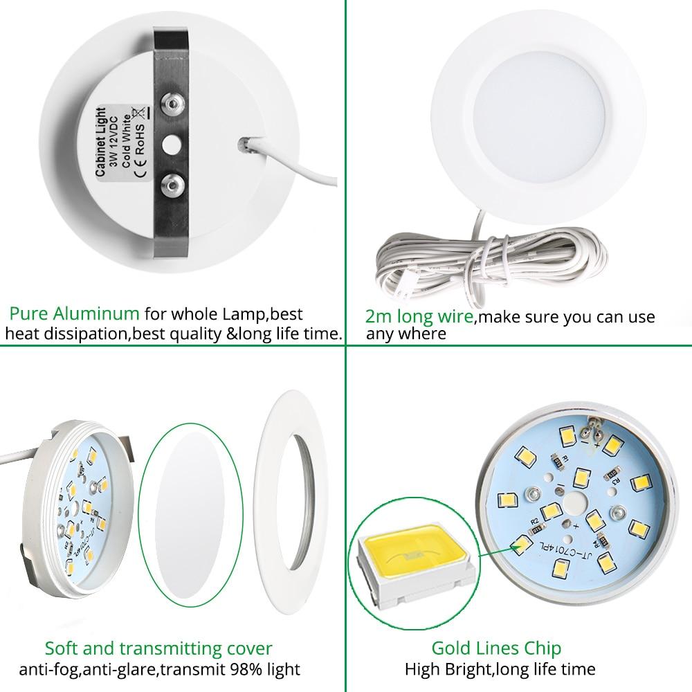 Luces de LED debajo del gabinete Luces de clóset 12 V 3 W Conexión - Iluminación interior - foto 2