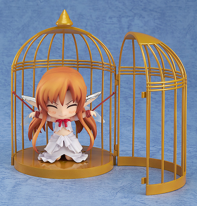 NEW hot 10cm Q version Yuki Asuna Sword Art Online Cage movable Nendoroid Mini Action figure toys collection christmas toy doll with box