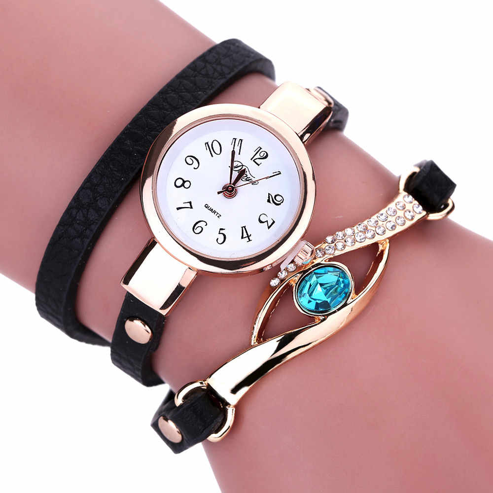 #5001Fashion Women Diamond Wrap Around Leatheroid Quartz Wrist Watch reloj mujer New Arrival Freeshipping Hot Sales