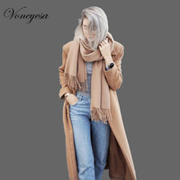 2017 New Solid Cashmere Scarf Women Winter Long Scarves And Wraps 100 Arcylic Autumn Shawl Hijab