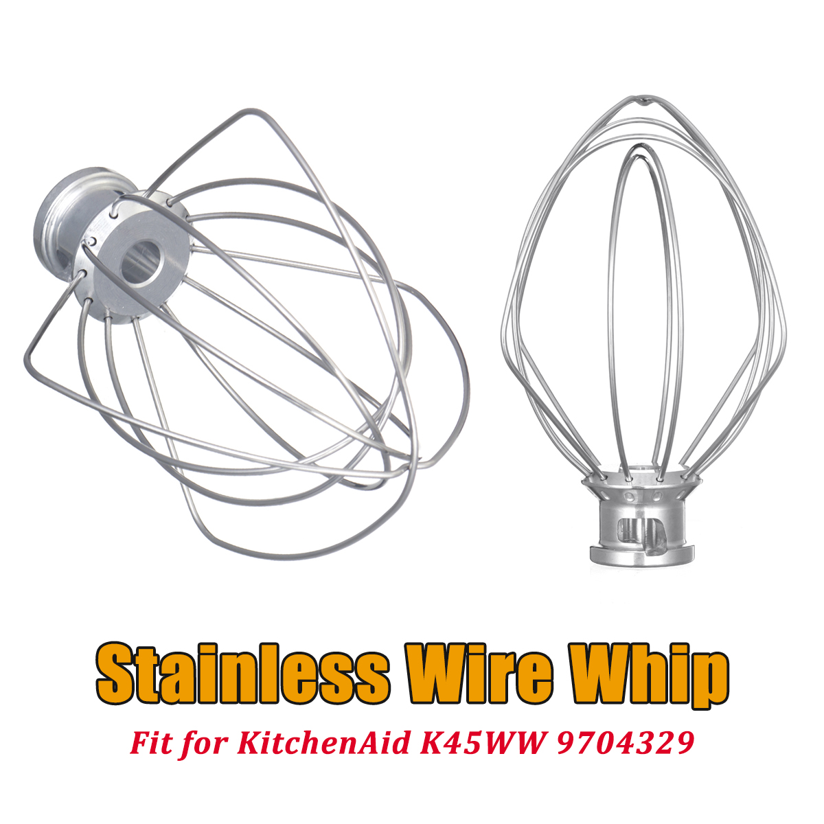 304 Stainless Steel Wire Whip Mixer Attachment For KitchenAid K45WW 9704329 For Mixers Milkshakes Noodle Makers kitchenaid венчик для 5ksm90 5k45 5ksm150ps k45ss k45ww kitchenaid
