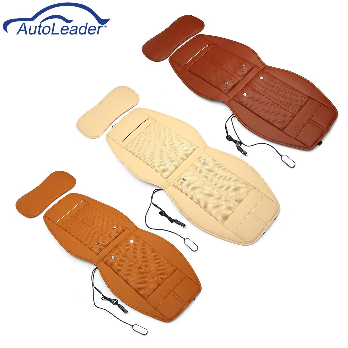 3 In 1 Car Auto Seat Cushion Cooling Heated Massage Chair Seat Cover Cushion Universal 12V Electric Heated Seat Pads kkysyelva universal leather car seat cover set for toyota skoda auto driver seat cushion interior accessories