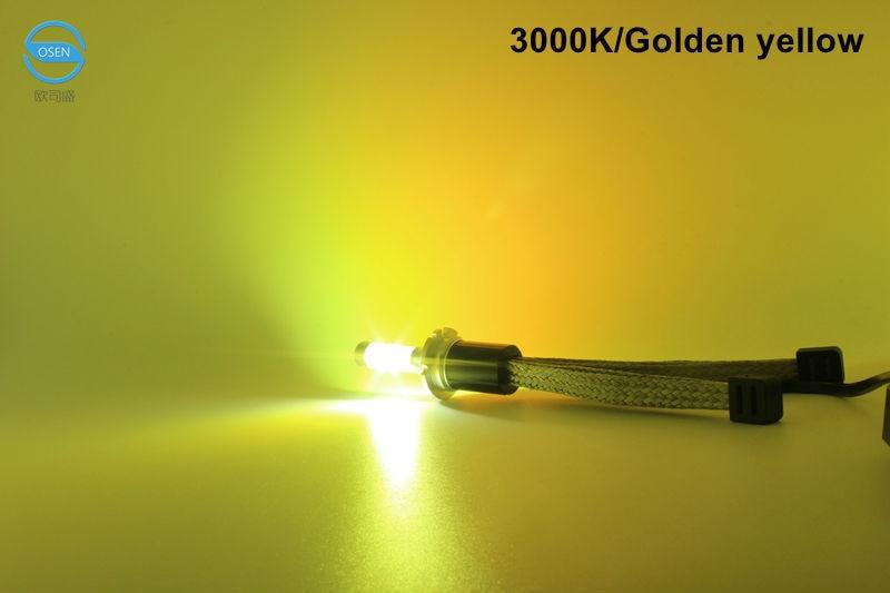 Ossen R4 H7 LED Headlight bulbs 30w 3600lm 3000k Yellow 4300k 5000k 6000k White 8000k Blue Auto Car Headlights Fog Lamp Kits 12v4