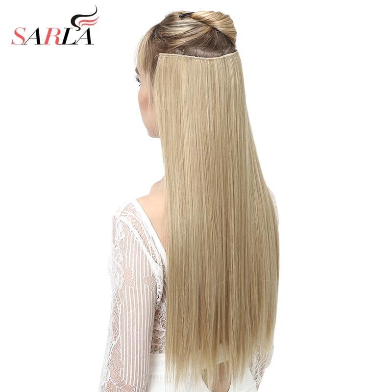 """Grampo na extensão do cabelo ombre bayalage longa reta flase cabelo peças para as mulheres 24 """"5 clipes sintético uma peça 3/4 cabeça 66"""
