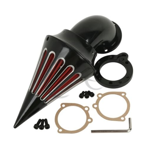 Motorcycle Spike Air Cleaner Intake Filter Kit For Harley Davidson S&S EVO CV Custom Sportster 1200 883 XL Black