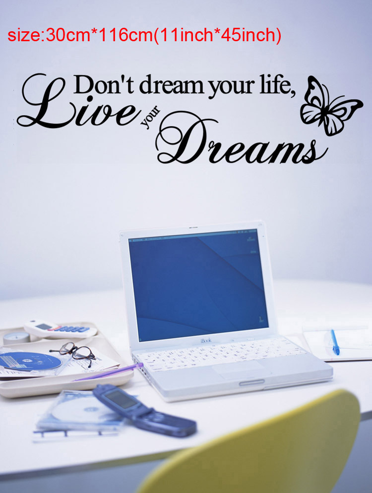 Don T Dream Your Life Live Your Dreams And Wall Art Butterfly Quotes Wallstickers Quotes And
