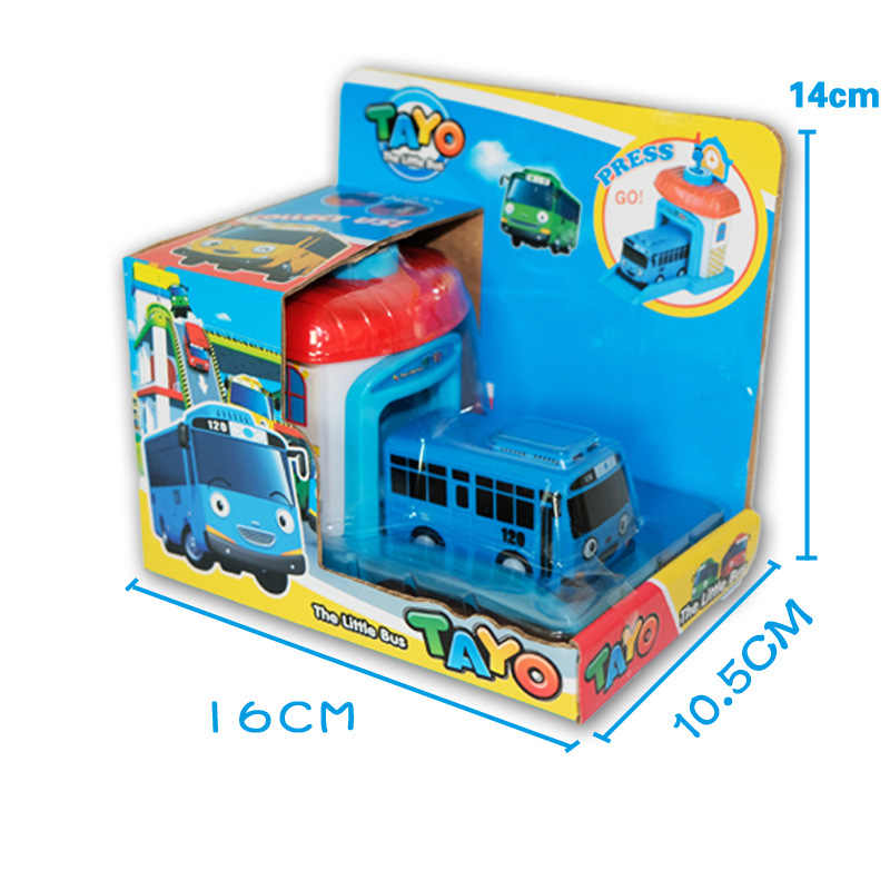 One piece Korean Cartoon garage tayo die wenig bus modell araba oyuncak auto mini kunststoff nette tayo blau bus für kinder brinquedo