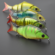 4pcs/lot 5 Hard Fishing Lures Sections Jointed Swimbaits Hooks w/ Display Box