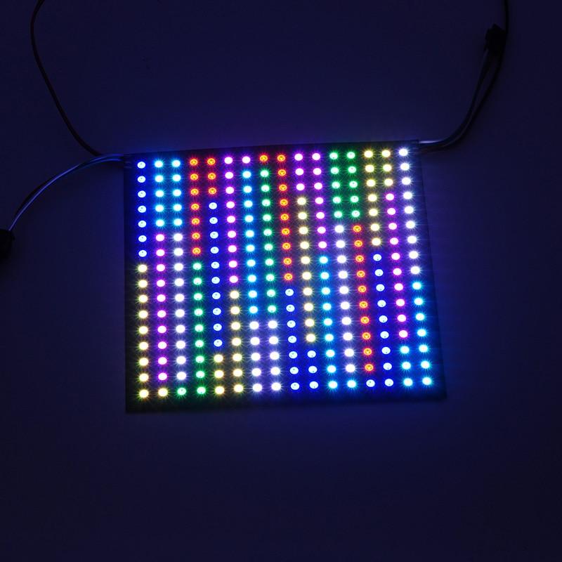 ФОТО Free shipping 1 pcs DC5V 16*16 Pixel 256 leds WS2812B LED Digital Flexible Panel led module