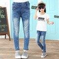 Jeans menina Calças De Algodão Crianças Casuais Primavera Outono Grils Denim Grande Criança Calças de Boa Qualidade