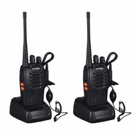 Baofeng BF 888S 2pcs VHF/UHF FM Transceiver 400 470MHz Rechargeable Walkie Talkie 5W 16Ch With Headset 2 way Radio