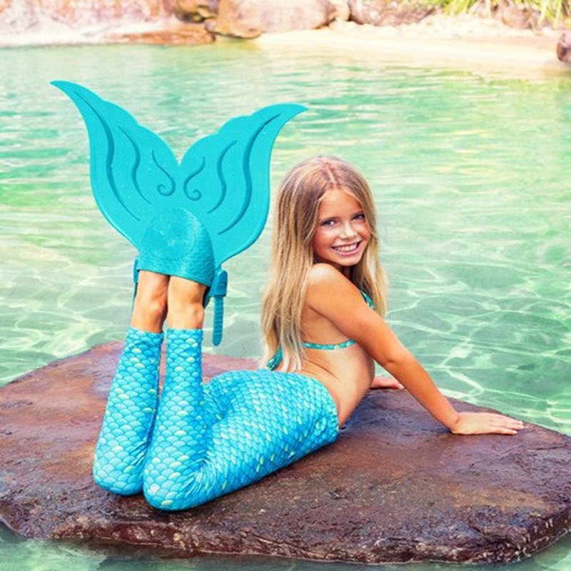Taoyanshuo Mermaid Non-Slip Comfortable Fins,Lightweight Portable fins,fins for Swimming Kids.