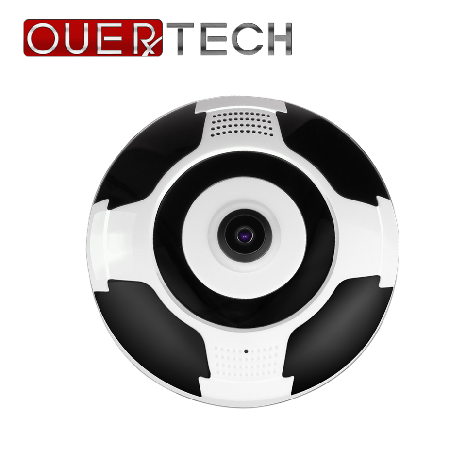 OUERTECH Full view WIFI 360 Degree Two way audio Panoramic 960P Fisheye Wireless Smart IP vr Camera support 64g app v380 image