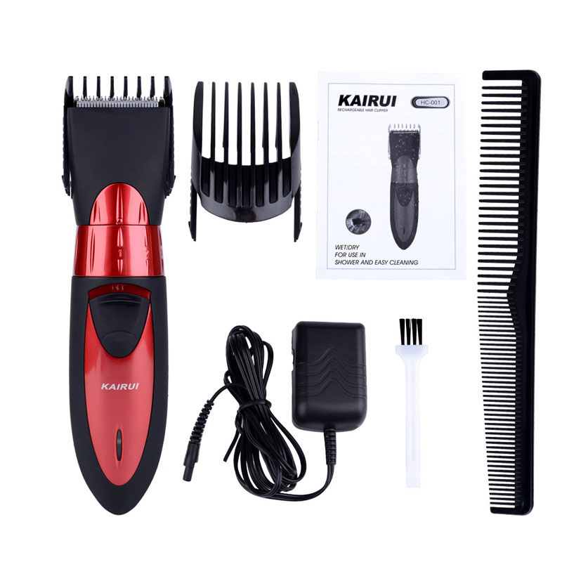 Electric Washable Hair Clipper Rechargeable Hair Trimmer Shaver Razor Cordless Adjustable Professional Haircut Cutting Machine electric washable hair clipper rechargeable hair trimmer shaver razor cordless adjustable clipper eu plug