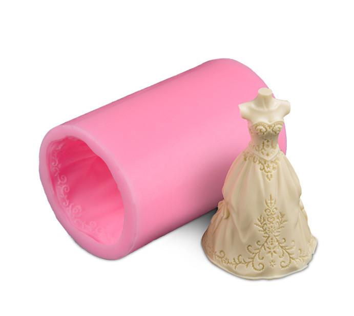 vestido de casamento d velas presentes presentes de aniversrio das crianas festa deco soapmold silicone molde