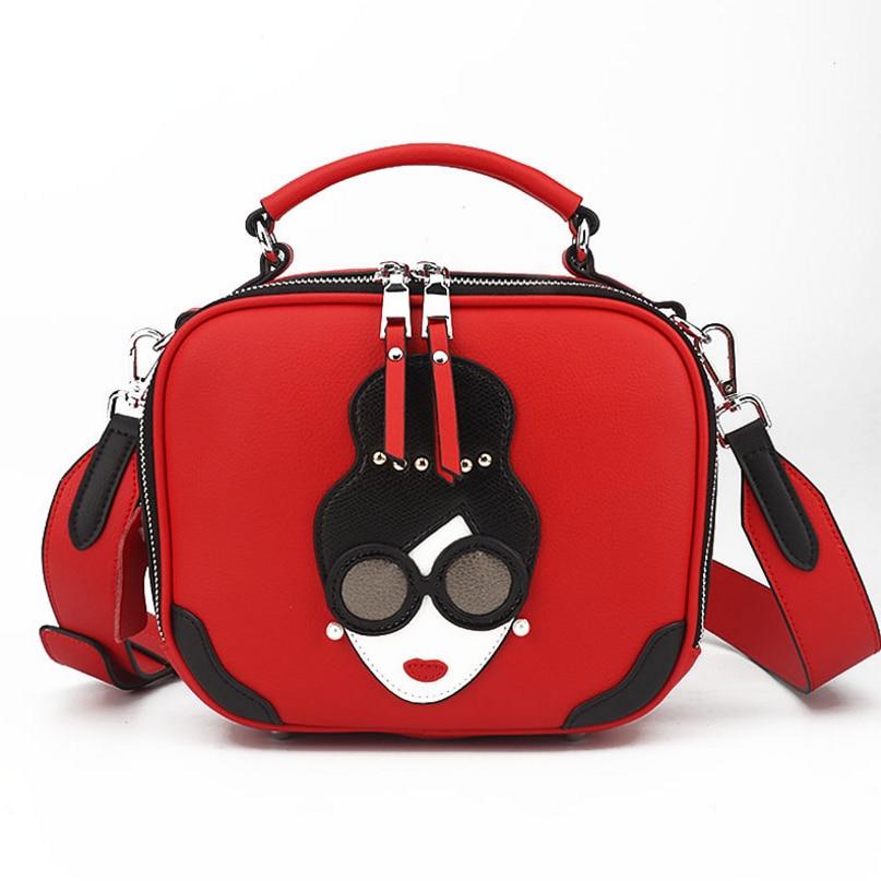 Women Genuine Leather Handbag Fashion Luxury shoulder bag Women Bags Designer Female Printing Messenger Bags 18041601 цена 2017