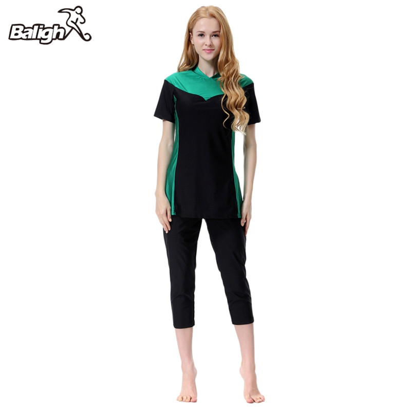 Balight Plus Size Burkinis Islamic Swimwear Women Girls Muslim Swimwear Full Cover Modest Islamic Swimming Suits цена 2017