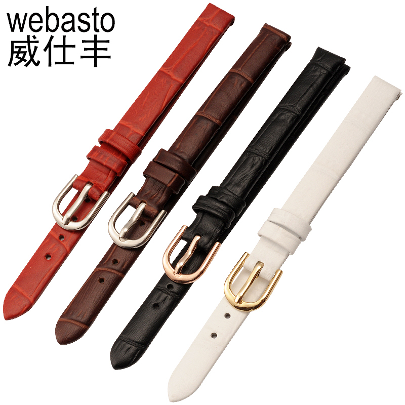 Webasto Women Watch Band For GUCCI Crocodile Straps Width 6 8 10mm Buckle Watch Strap Watchbands Free Shipping