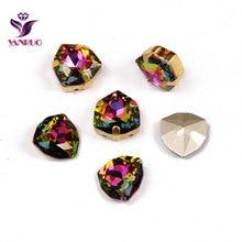 YANRUO 4706 Trilliant  All Sizes VM Strass Sew On Stones Glass Rhinestones Crystal Bright Jewelry For Dresses Decor