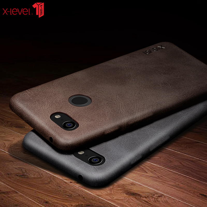 Original X-Level PIPILU Ultra-thin Slim Retro Vingate PU Leather Case For Google Pixel 2 / 2 XL For Google Pixel 3 / 3XL