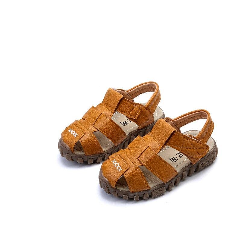 2017 Summer Children Shoe Boy Genuine Leather Sandals Children Sandals Beach shoe Kid Casual Shoe Size Eu 21-30
