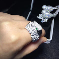 Qi Xuan_Trendy Jewelry_New Милый Попугай Ring_S925 Твердые Щепка Мода Милый Попугай Ring_Manufacturer непосредственно распродажа