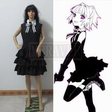 Anime Asesinato Aula Kayano Kaede Cosplay Traje Kawaii Vestido Negro